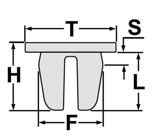 20x Spreizmutter Torx Schrauben Kotflügel Radhausschale Radkasten Unterboden