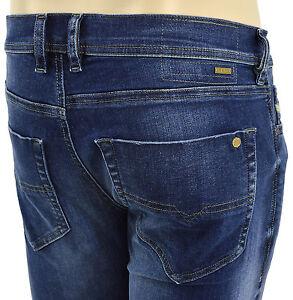 $228 Diesel Jeans Bleu Délavé Tepphar 0839 H Homme Denim Taille 33 nouvelle collection