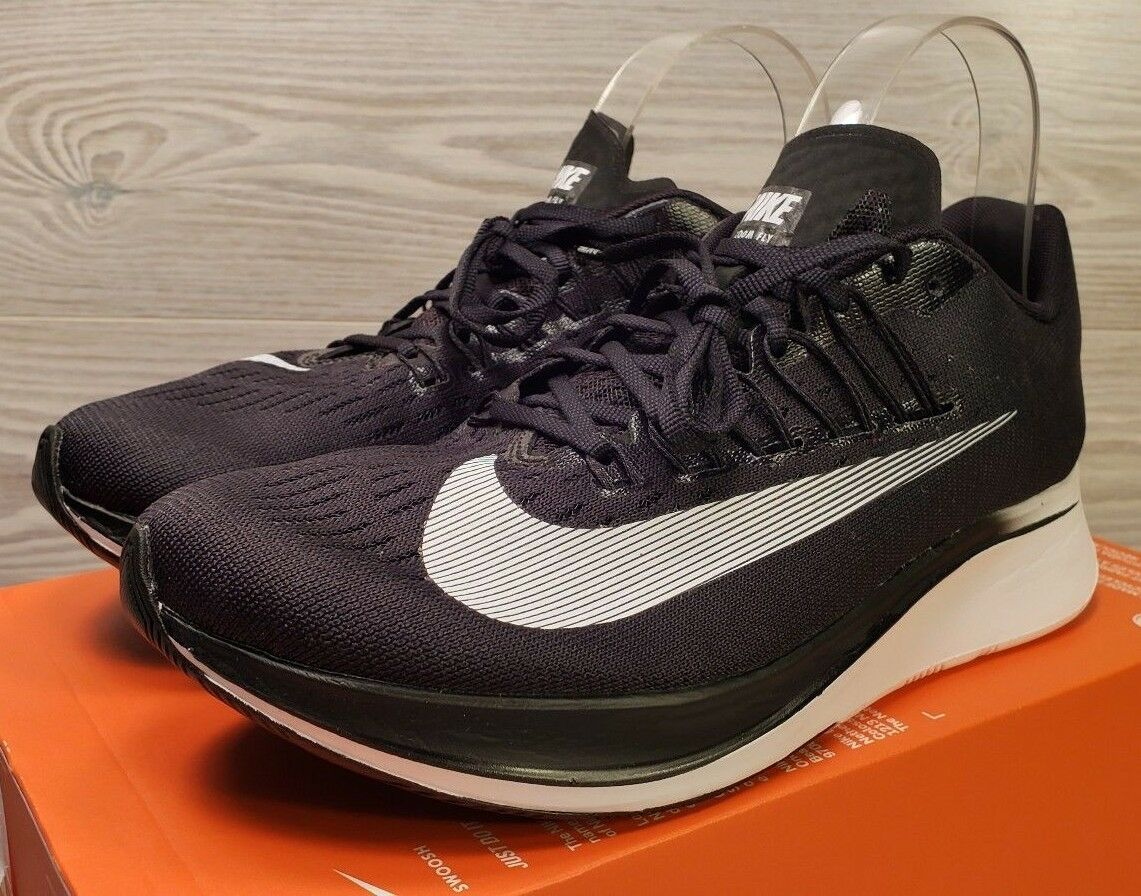 Nike Zoom Fly Womens Lightweight Running Shoes Black White 897821 001 Size 9