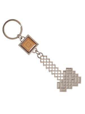 Espressive Ufficiale Minecraft Axe Simbolo Portachiavi In Metallo (nuovo)-