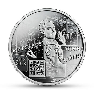 POLES RESCUING JEWS FROM HOLOCAUST DURING WORLD WAR II MINT COIN OF POLAND