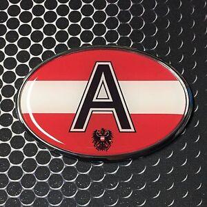 29e5157b27ede Details about AUSTRIA Oval Flag CHROME Emblem Proud Car OVAL Domed sticker  3D 3.25