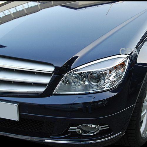 Schätz ® Chrom Scheinwerfer Rahmen Mercedes C-Klasse W204 S204 bis 03//2011 C204