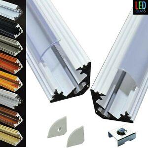 1m 2m aluminium corner profile for led strips striplight. Black Bedroom Furniture Sets. Home Design Ideas