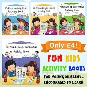 ISLAMIC ACTIVITY COLOURING BOOKS Kids STICKER fun Children Salah