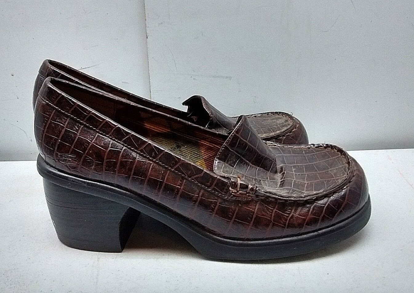 Skechers Somethin' Else Women Brown Synthetic Slip On Platform Clogs shoes 8M 39