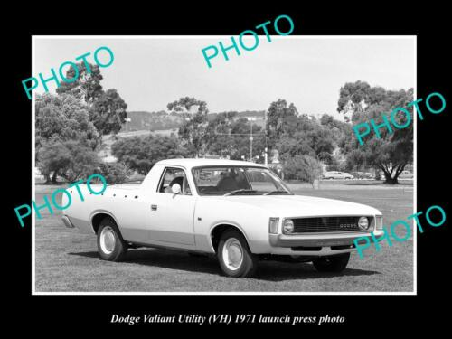 OLD 6 X 4 HISTORIC PHOTO OF 1967 DODGE VH VALIANT UTE LAUNCH PRESS PHOTO