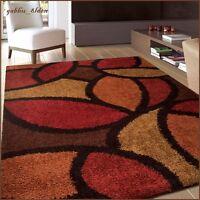 Soho Multi Area Rug Contemporary Thick Soft Carpet Orange Gold Red Brown Black