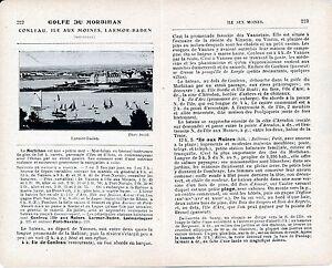 56 Golfe du Morbihan 1921 photo +guide (3 p) Conleau Île aux Moines Larmor-Baden uwFmQsuR-08041700-696742394
