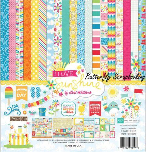 I Love Sunshine Collection Kit 12X12 Scrapbooking Kit Echo Park Paper Summer New