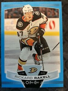 UPPERDECK-O-Pee-Chee-2019-2020-RICKARD-RAKELL-BLUE-BORDER-HOCKEY-CARD-294