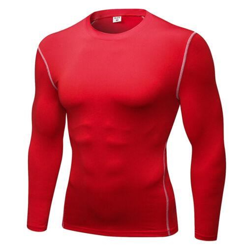 Mens Compression Under Thermal Shirts Base Layer Sports Tops Long Sleeve T-shirt