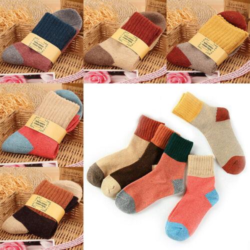 Women Ladies Thick Winter Socks Warm Wool Christmas Nordic Novelty Sock Gifts