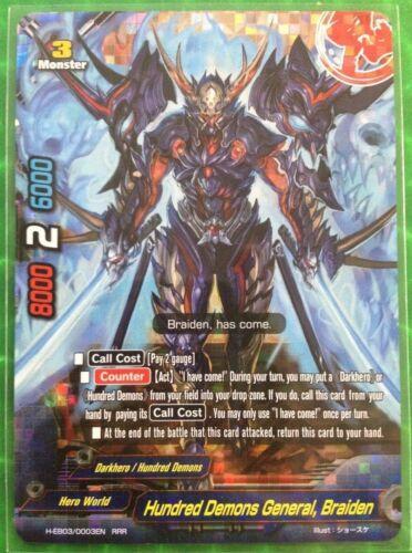 Buddyfight English H-EB03//0003EN RRR Hundred Demons General Braiden