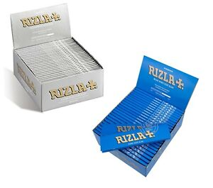 RIZLA-BLUE-SLIM-SILVER-SLIM-KING-SIZE-ROLLING-PAPERS-10-20-30-amp-50-BOOKLETS