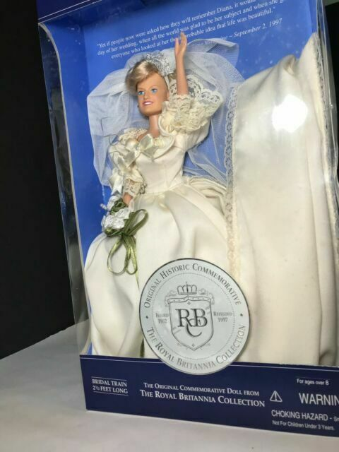 1997 Diana Princess Of Wales Doll A Royal Remembrance In Wedding Gown For Sale Online Ebay
