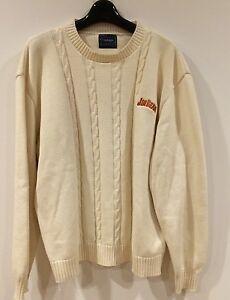 Jim Beam Bourbon Ivory Cotton Sweater Men's Large Pullover Vantage ...