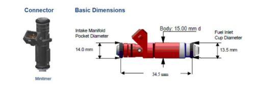 4 Siemens Deka V 80lb//hr Fuel Injectors EV1 Bosch Short 48mm A2C32624700 Set