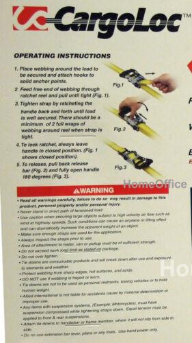 amarres amarre Rachet 2 x correa de trinquete de alta resistencia-Carga de 1000 lb approx. 453.59 kg