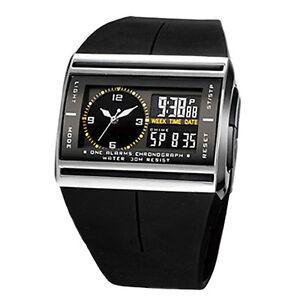 Herren-Digital-LED-Armbanduhr-Sportuhr-wasserdichte-Uhr-Herrenuhr