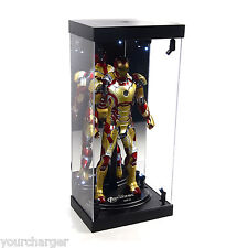 "MB Display Box Acrylic Case LED Light House for 12"" 1/6th Scale IRON MAN Figure"