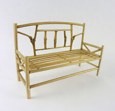 Dollhouse Miniature Fairy Garden Natual Bamboo Bench, 22480