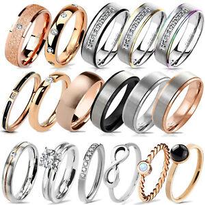 Fein Damen Ring Band Ring Fingerring Verlobungsring Edelstahl Ring Rs57