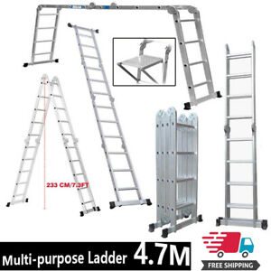 14 Way Combination 4X4 4.7M Ladder Extension Step /& Stair Ladders Multi Purpose