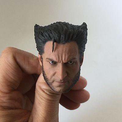 █ Custom Hugh Jackman Wolverine X-men 1/6 Head Sculpt for Hot Toys Body Logan █