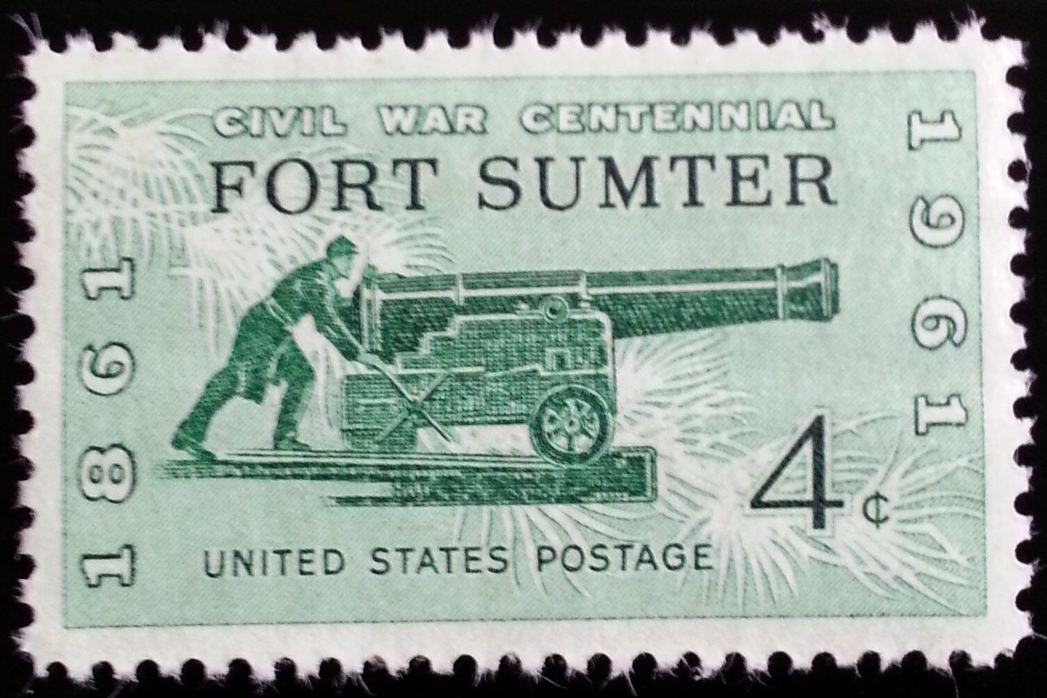 1961 4c Fort Sumter, Civil War, 100th Anniversary Scott