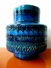 Bitossi 70`s 70er Vase Rimini blue Aldo Londi TOP rare