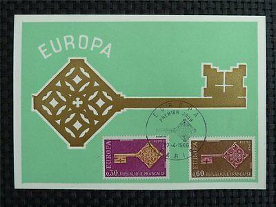 Vornehm France Mk 1966 Europa Cept Maximumkarte Carte Maximum Card Mc Cm C2505 In Verschiedenen AusfüHrungen Und Spezifikationen FüR Ihre Auswahl ErhäLtlich Europa