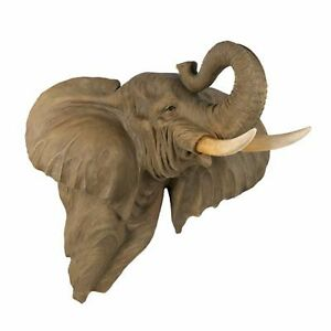 Image Is Loading Elephant Head Bust Wall Mount Large Home Decor