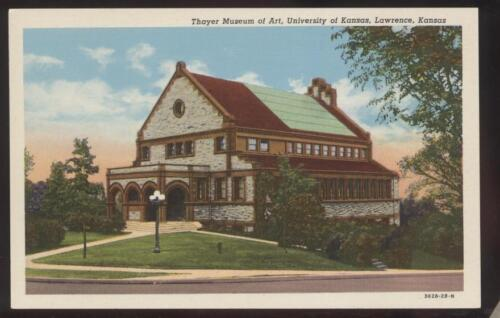 Postcard LAWRENCE,KansasKS THAYER MUSEUM OF ART view 1930's?