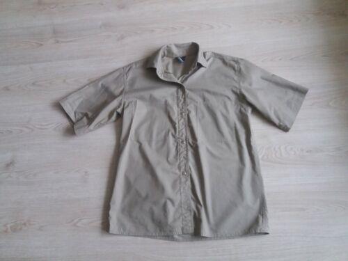 Vintage VUOKKO cotton beige blouse shirt size M