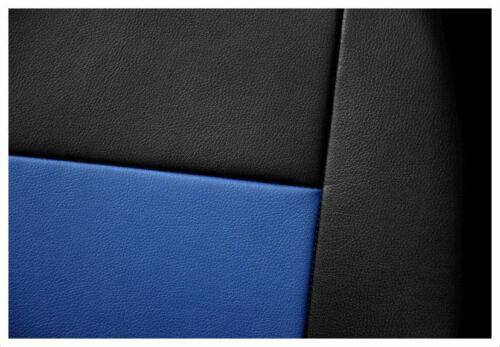 Housses de Siège Ajustement FORD TRANSIT CUSTOM 2015 2016 2017 2018 Similicuir Noir-Bleu