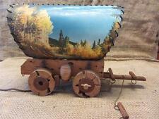 RARE Vintage Wagon TV  Lamp   Antique Western Decor Lamps Light Horse 8783