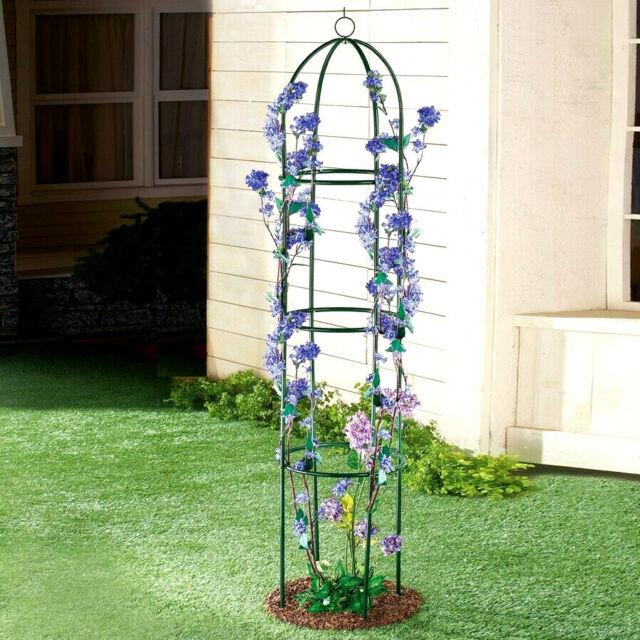 Metal Garden Trellis Climbing Vine Fence Potted Plants Grow