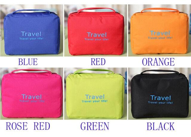 Outdoor Travel Organizer Toiletry Cosmetic Shaving Makeup Folding Storage Bag