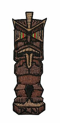Artist Dean Lee Norton Ancient Hawaiian Tiki Embroidered Iron On Applique Patch