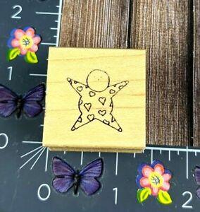 Rubbermoon Baby Heart Jumper Rubber Stamp Shower Announcement Wood #B121