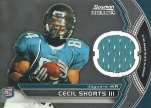 Details about 2011 Bowman Sterling Football #BSR-CS Cecil Shorts III JERSEY Jaguars