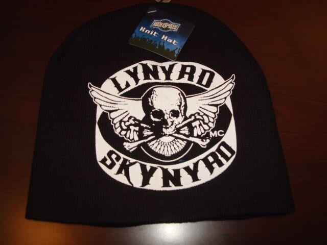 f169aeda LYNYRD SKYNYRD SCRIPT NEW RARE TOBOGGAN KNIT VINTAGE BEANIE SKULL HAT CAP