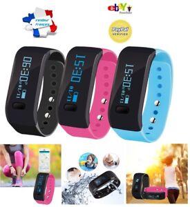 Montre-Connectee-BLEUE-Smart-Watch-etanche-podometre-distance-calorie-Appel-SMS