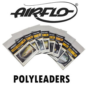 Airflo Fly Fishing Polyleaders 5ft 8ft 10ft Trout Salmon