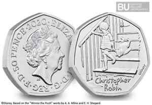 NEW 2020 UK Christopher Robin CERTIFIED BU 50p COIN