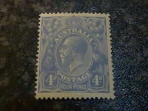 AUSTRALIA-POSTAGE-STAMP-SG65B-FOUR-PENCE-PALE-MILKY-BLUE-LIGHTLY-MOUNTED-MINT
