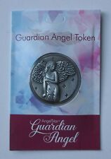 o GUARDIAN ANGEL feather POCKET TOKEN CHARM with wings of angels