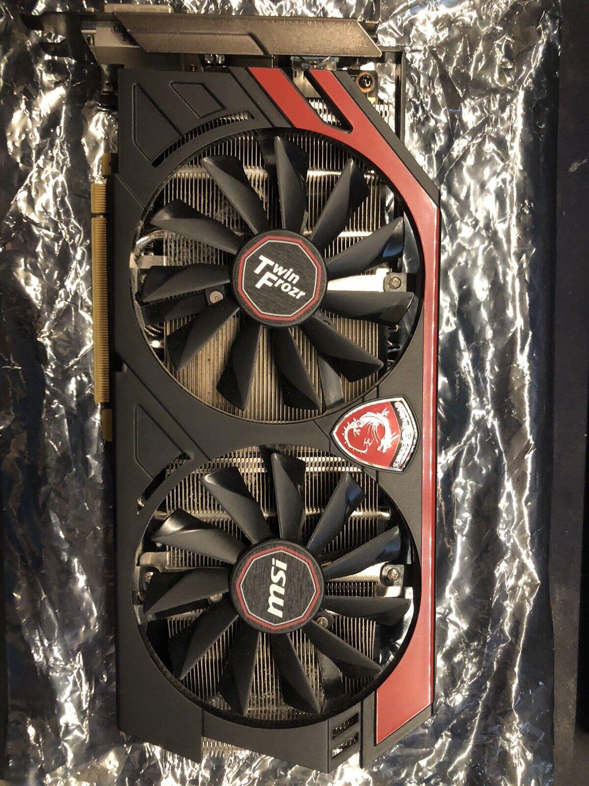 MSI GeForce GTX 760 2 GB TWIN FROZR GDDR5 VIDEO CARD (slightly used)