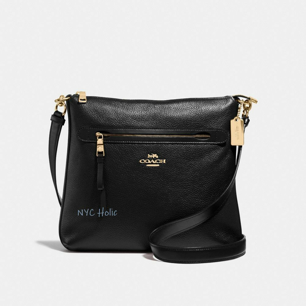 2019 original attractivedesigns search for newest Details about New Coach F34823 Mae Crossbody Pebble Leather Bag